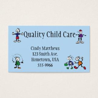 garde, gardant les enfants, carte de visite de