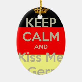 garder-calme-et-baiser--je-m-allemand ornement ovale en céramique