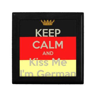 garder-calme-et-baiser--je-m-allemand petite boîte à bijoux carrée