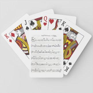 Gardez des cartes manuscrites de musique de jeux de cartes