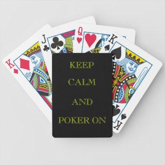 Gardez dessus et tisonnier sur des cartes de jeu jeu de cartes