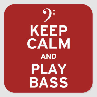 Gardez la basse de calme et de jeu sticker carré