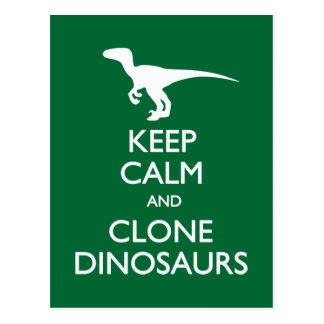 Gardez la carte postale calme de dinosaures de