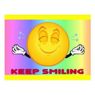 Gardez la carte postale de sourire 2