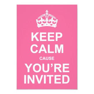 Gardez la cause calme que vous êtes le bonbon invitation personnalisée