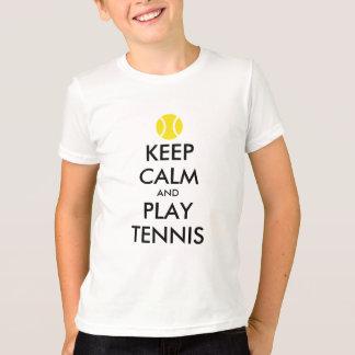 Gardez la chemise d'enfants de tennis de calme et t-shirt