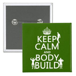 Gardez la construction de calme et de corps l arr badge avec épingle