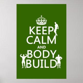 Gardez la construction de calme et de corps poster