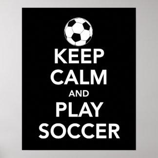 Gardez la copie ou l'affiche du football de calme  poster