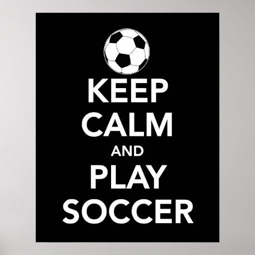Gardez la copie ou l'affiche du football de calme