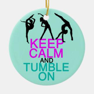 Gardez la dégringolade calme sur la gymnastique ornement rond en céramique