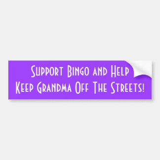 Gardez la grand-maman outre des rues, bingo-test d autocollant pour voiture
