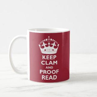 Gardez la palourde et corrigez sur épreuves la mug