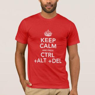 Gardez la pièce en t calme de geek t-shirt
