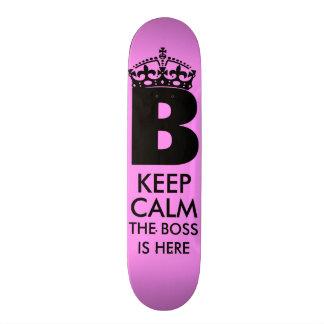 Gardez la Reine calme que B est ici Plateau De Skate