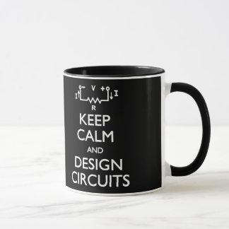 Gardez la tasse calme de circuits de conception