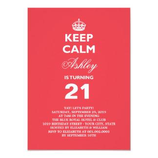 Gardez le 21ème invitation d'anniversaire d'étape
