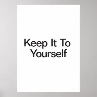 Gardez-le à vous-même