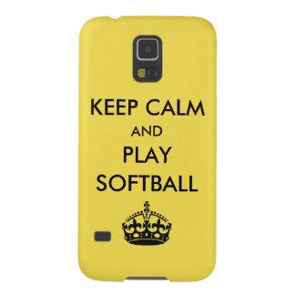 Gardez le base-ball de calme et de jeu coque galaxy s5