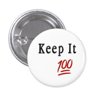 Gardez-le bouton de 100 Pinback Pin's