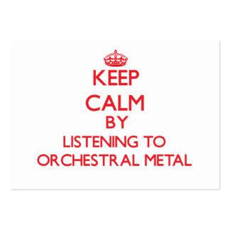 Gardez le calme en écoutant le MÉTAL ORCHESTRAL