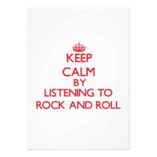 Gardez le calme en écoutant le ROCK