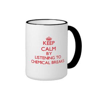 Gardez le calme en écoutant les COUPURES CHIMIQUES Mug À Café