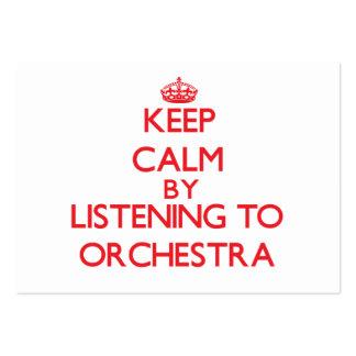 Gardez le calme en écoutant l'ORCHESTRE Cartes De Visite Personnelles
