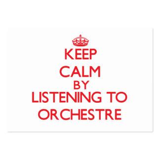 Gardez le calme en écoutant ORCHESTRE Modèles De Cartes De Visite