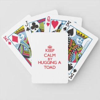 Gardez le calme en étreignant un crapaud jeu de poker
