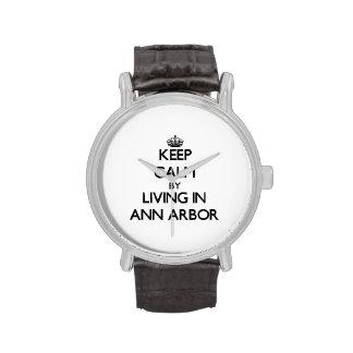 Gardez le calme en habitant à Ann Arbor Montres Bracelet
