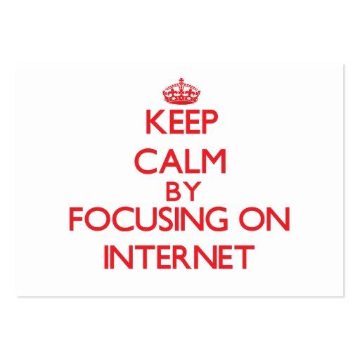 Gardez le calme en se concentrant dessus sur l'Int Cartes De Visite Professionnelles