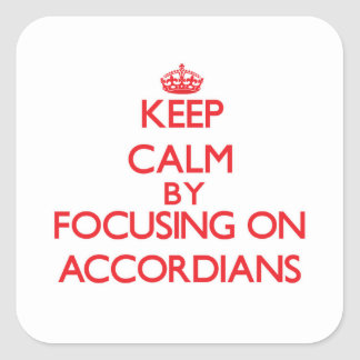 Gardez le calme en se concentrant sur Accordians Adhésif