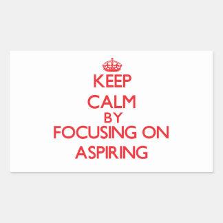 Gardez le calme en se concentrant sur aspirer autocollants