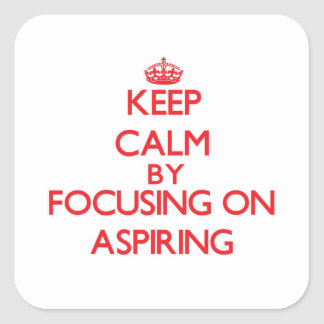 Gardez le calme en se concentrant sur aspirer