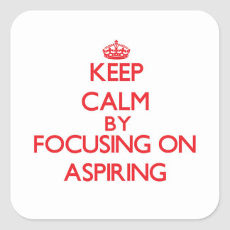 Gardez le calme en se concentrant sur aspirer adhésif