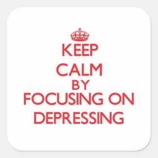 Gardez le calme en se concentrant sur stickers carrés