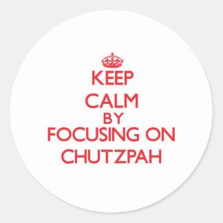Gardez le calme en se concentrant sur adhésif