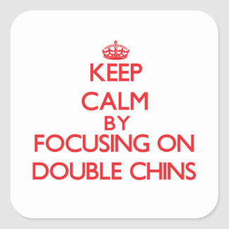 Gardez le calme en se concentrant sur de doubles autocollants carrés