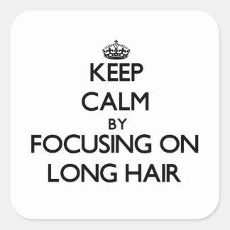 Gardez le calme en se concentrant sur de longs sticker carré