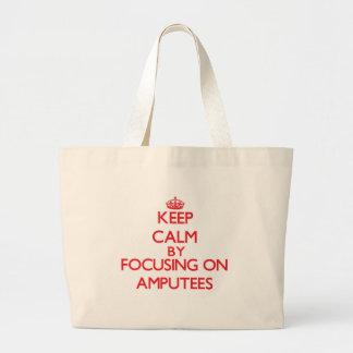 Gardez le calme en se concentrant sur des amputés sac fourre-tout