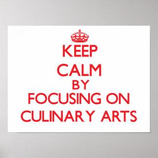 Gardez le calme en se concentrant sur des arts poster