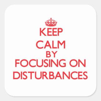 Gardez le calme en se concentrant sur des sticker carré