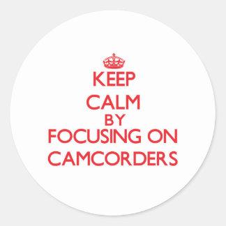 Gardez le calme en se concentrant sur des adhésif rond
