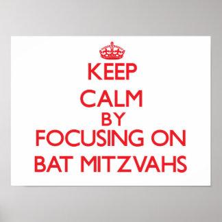 Gardez le calme en se concentrant sur des bat poster