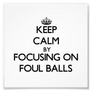 Gardez le calme en se concentrant sur des boules F Impression Photo