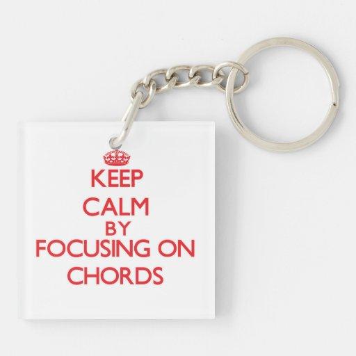 Gardez le calme en se concentrant sur des cordes porteclés