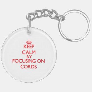 Gardez le calme en se concentrant sur des cordes porte-clé