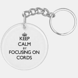 Gardez le calme en se concentrant sur des cordes porte-clefs