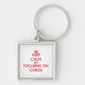 Gardez le calme en se concentrant sur des cordes porte-clés